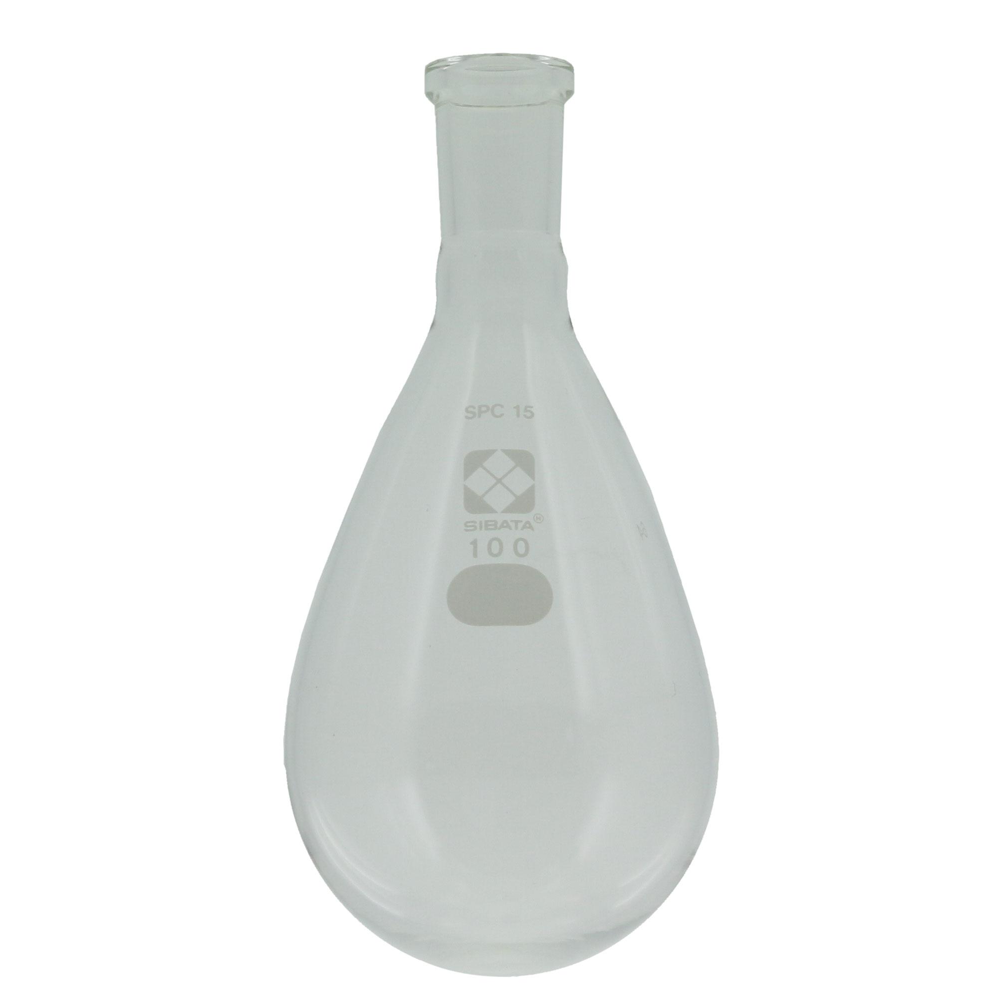 030120-15100 SPCなす形フラスコ 100mL SPC-15 柴田科学(SIBATA)