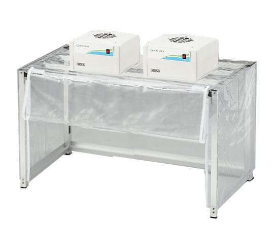 折りたたみ簡易型クリーンブース ファンユニット2台付 OKC1000