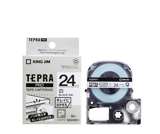 テプラ専用 テープカートリッジ ホワイト(弱粘着) SS24KE