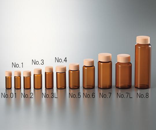 0101-2217 CCスクリュー管 褐色 オレンジキャップ付 No.3L(100本) マルエム