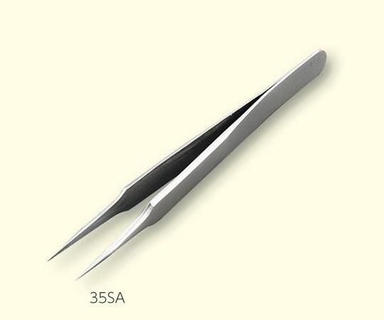 3-6681-02 ステンレスピンセット 全長 120mm 先端サイズ 35mm 35SA アズワン(AS ONE)