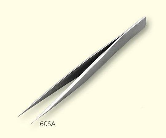 ステンレスピンセット 全長 125mm 先端サイズ 60mm 60SA