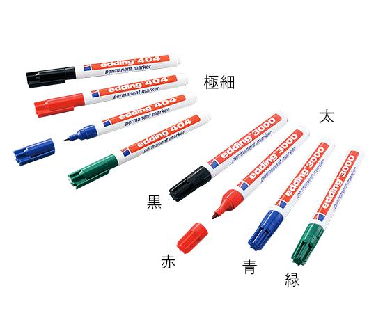 3-7106-02 ラボペン (edding) 1.5~3mm 太 赤 アズワン(AS ONE)