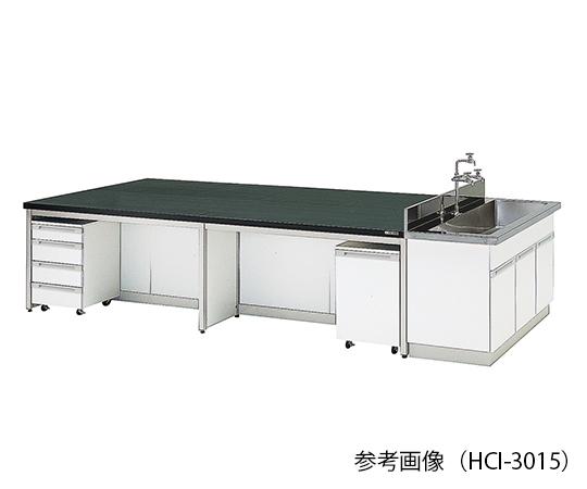 3-7923-03 中央実験台 (フレ-ムタイプ) 3600×1500×800 mm HCI-3615 アズワン(AS ONE)
