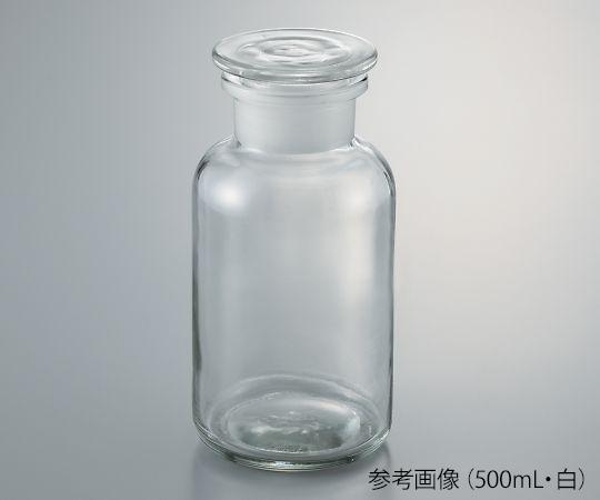 広口試薬瓶 白 500mL 632414104500