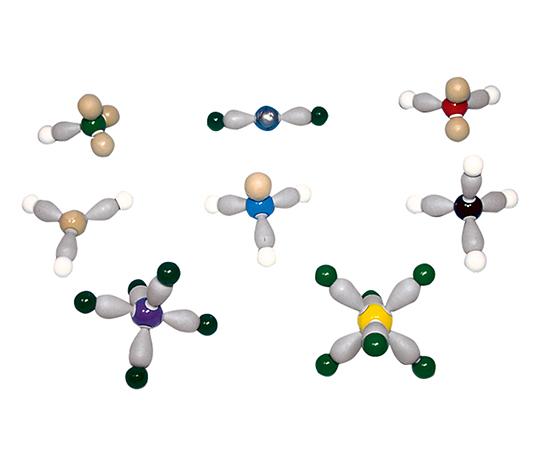 電子軌道模型 分子形状と電子軌道の模型組立セット 8種