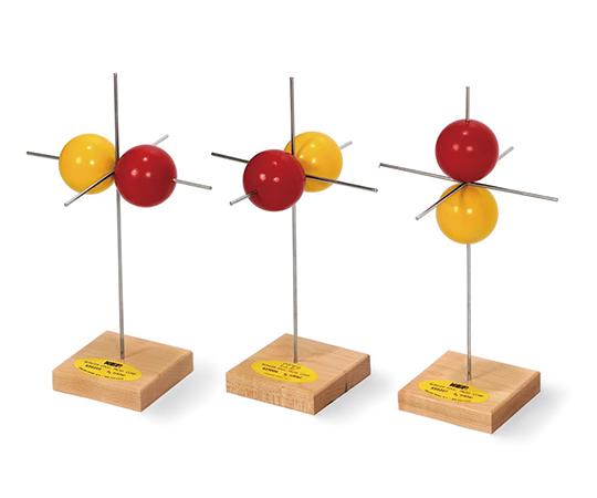 電子軌道模型 p軌道模型(3個)