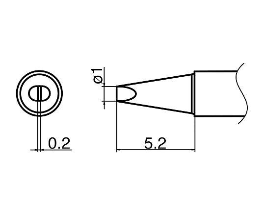 マイクロはんだごて用こて先 T35-02D1