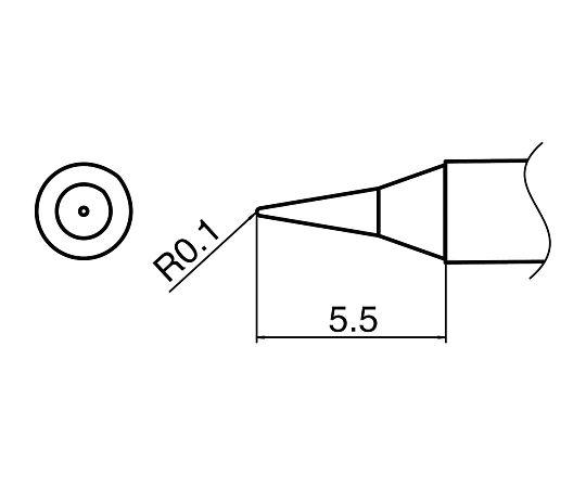 マイクロはんだごて用こて先 T35-02I