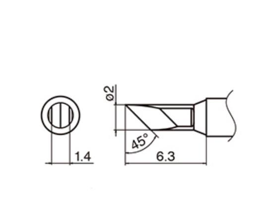 T35-03KU マイクロはんだごて用こて先 T35-03KU 白光(HAKKO)