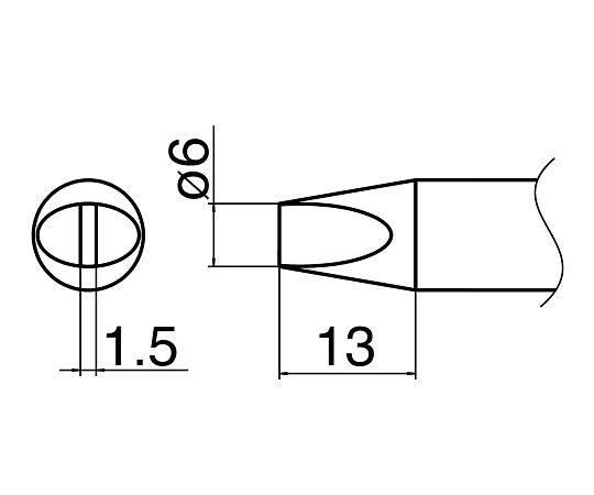 ハイパワーはんだごて用こて先 T33-D6 白光(HAKKO)
