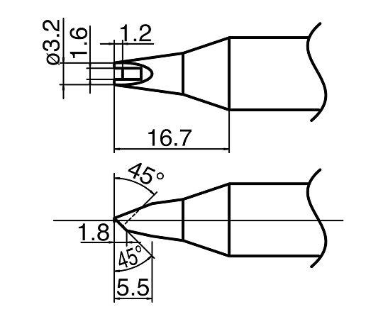 ハイパワーはんだごて用こて先 T33-1611 白光(HAKKO)