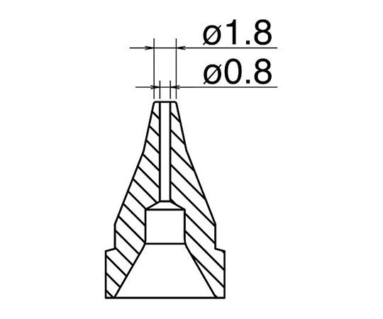 はんだ吸取器(FR410-81)用ノズル S型 N61-04