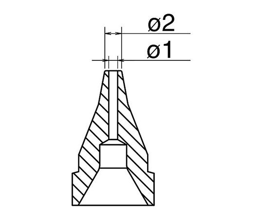 はんだ吸取器(FR410-81)用ノズル S型 N61-05