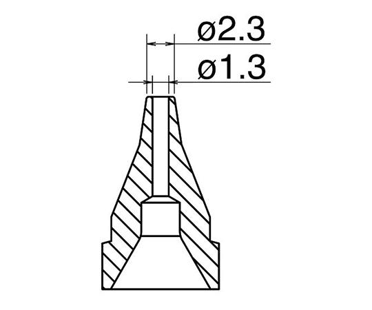 はんだ吸取器(FR410-81)用ノズル S型 N61-06