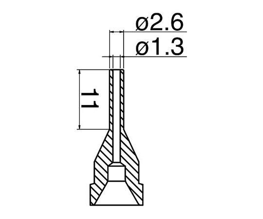はんだ吸取器(FR410-81)用ノズル ロング型 N61-13 白光(HAKKO)