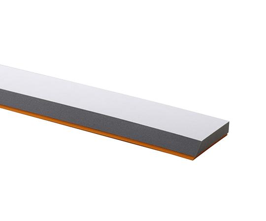 ならしヘラ(ゴム付き) 灰+オレンジ 普通 W-50 相模カラーフォーム
