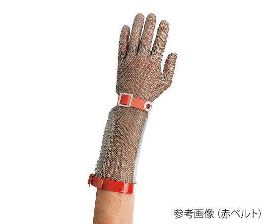ステンレスメッシュ手袋(ロングカフ) 赤ベルト M Manulatex
