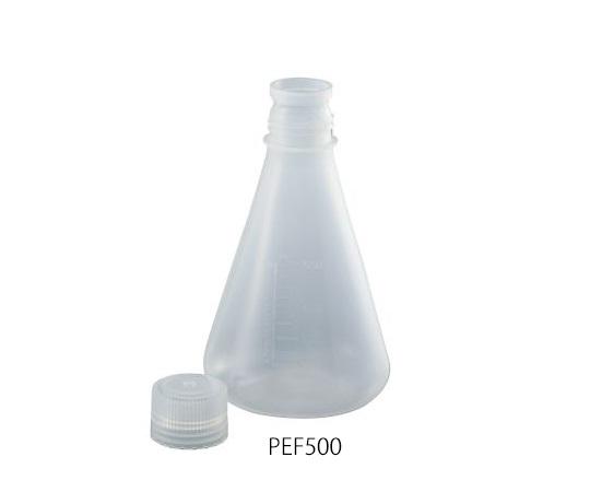 PP三角フラスコ(スクリューキャップ付) 500mL PEF500