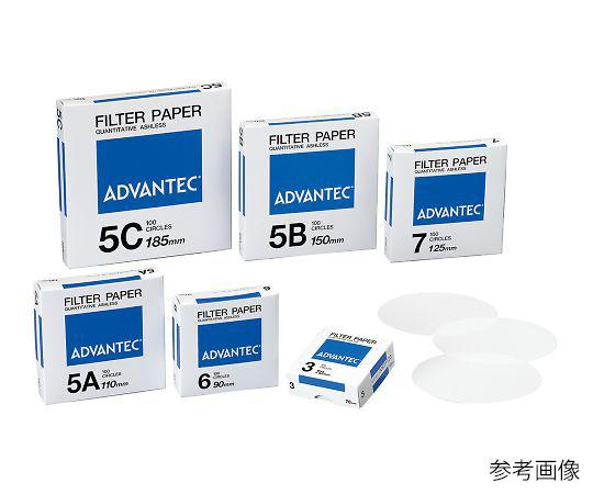 定量濾紙 No.5C 01531240(100枚) アドバンテック(ADVANTEC)