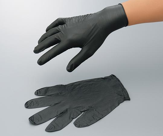 4-1077-03 アズツール トライグリップニトリル手袋 黒 M(50枚) アズワン(AS ONE)