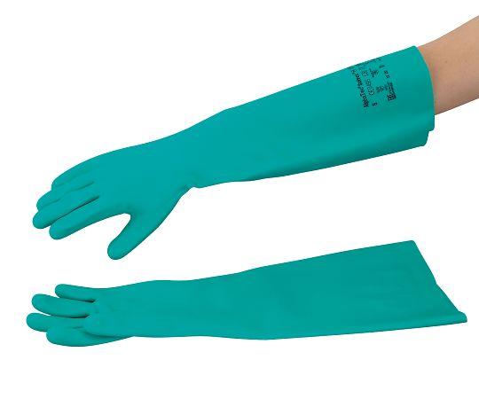 37-185(4-2394-03) 耐薬ニトリル手袋(アルファテックソルベックス・厚手) LL 37-185 アンセル