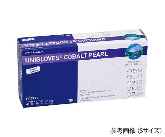 カラフルニトリル手袋(パウダーフリー) M 青 1013 COBALT(100枚)