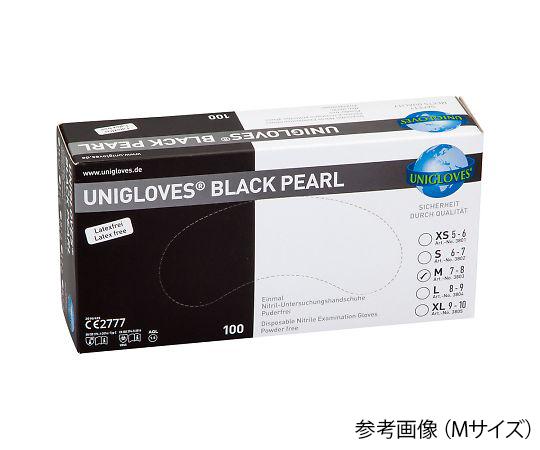 3803 BLACK カラフルニトリル手袋(パウダーフリー) M 黒 3803 BLACK(100枚) UNIGLOVES