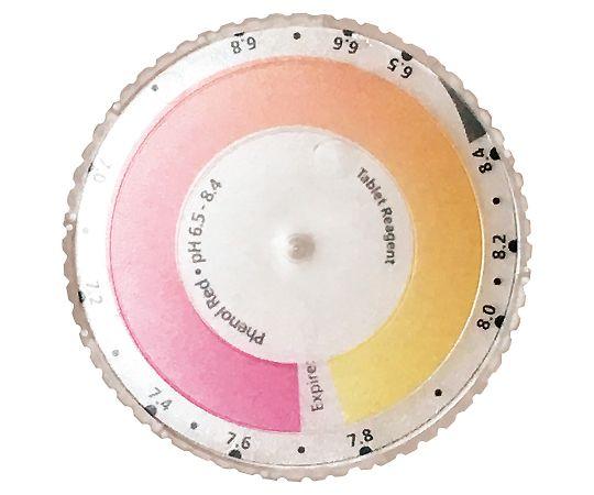 4-2609-15 遊離残留塩素測定器 フェノールレッド用ディスク(比色板) アサヒ商会