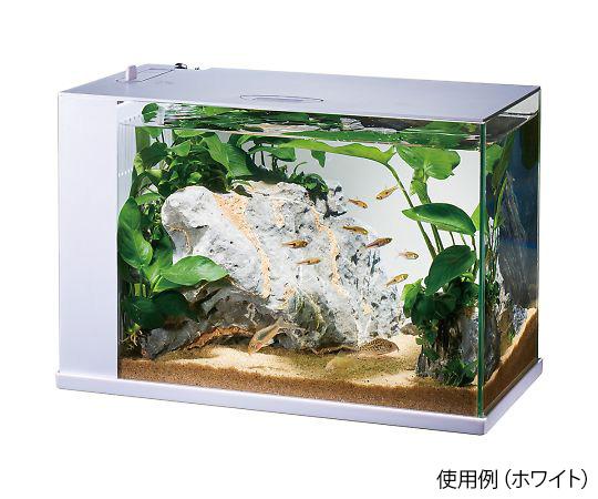 4-2708-02 LED&フィルター付オールインワン水槽セット ラクテリア ホワイト ジェックス