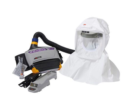 バーサフロー™電動ファン付き呼吸用保護具 隔離式ルーズフィット形(フード、大風量形) TR-800-433J