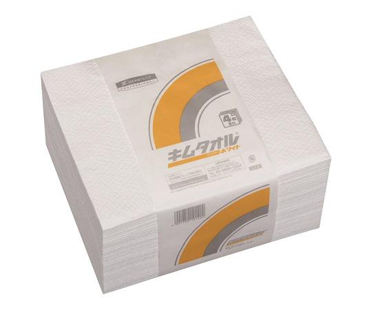 6-6686-01 キムタオル ホワイト 61012(50枚×24束) 日本製紙クレシア