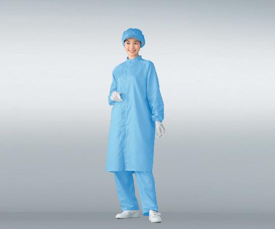 無塵衣男女兼用 ブルー 3L AS207C