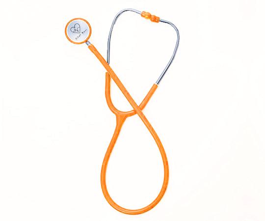 7-3414-10 バイタルナビ聴診器(スタンダードタイプ) ネオンオレンジ アズワン(AS ONE)