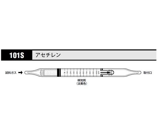 北川式 ガス検知管 アセチレン 101S(10本)