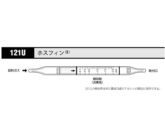 北川式 ガス検知管 ホスフィン 121U(20本) 光明理化学工業