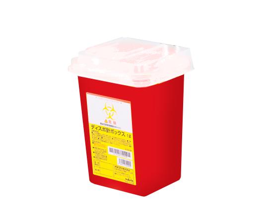 8-7221-41 ディスポ針ボックス 赤色 1L アズワン(AS ONE)