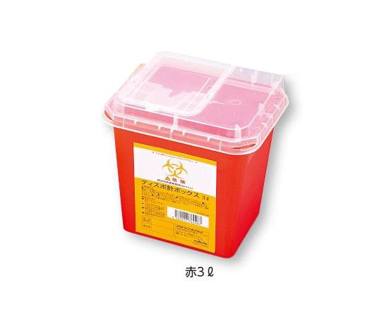 ディスポ針ボックス 赤色 3L