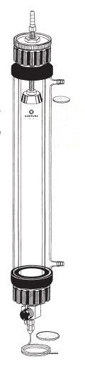 カラム ヘッドスペース調整機能付 ジャケット付 ILC-FSW22型 φ22×1000mm 桐山製作所(KIRIYAMA)【Airis1.co.jp】