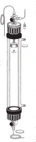 カラム ヘッドスペース調整機能付 三方コック付 ジャケット付 ILC-BSW22型 φ22×750mm 桐山製作所(KIRIYAMA)【Airis1.co.jp】