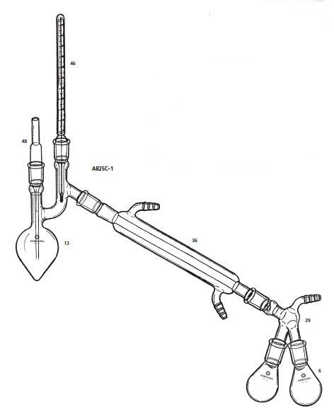 AB25C-1-2 クライゼンフラスコ 減圧蒸留装置 AB25C-1型 20mL 桐山製作所(KIRIYAMA)