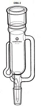 EX86-2-2 ソクスレー抽出器 EX86-2型 200mL 34/45 19/38 桐山製作所(KIRIYAMA)