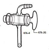 K76-4-2 デシケーター用コック K76-4型 φ10mm 桐山製作所(KIRIYAMA)