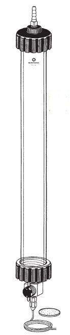 フラッシュカラム 耐圧1.96MPa以内 ILC-F22型 φ22×1450mm 桐山製作所(KIRIYAMA)【Airis1.co.jp】