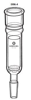 温浸抽出器 EX86-4型 100mL 29/42 15/25 桐山製作所(KIRIYAMA) EX86-4-1