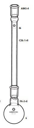 AB43-4-1 還流装置 AB43-4型 50mL 15/25 桐山製作所(KIRIYAMA)