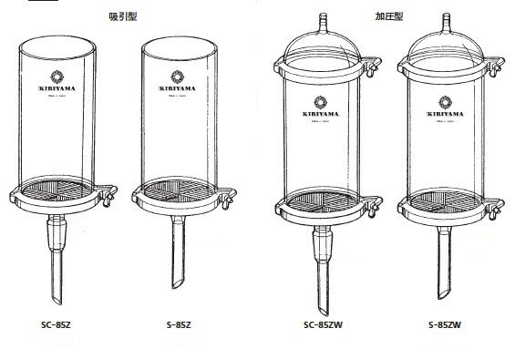大型セパロート 透明共通摺合せ用 ベースのみ 桐山製作所(KIRIYAMA)【Airis1.co.jp】