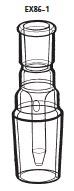 EX86-1-5 抽出器用ジョイント EX86-1型 19/38 34/45 桐山製作所(KIRIYAMA)