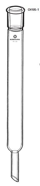 透明共通摺合せ クロマトカラム CH105-1型 φ10×300mm 15/25 桐山製作所(KIRIYAMA)【Airis1.co.jp】