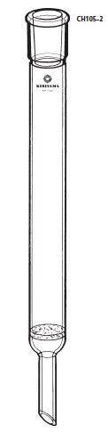 透明共通摺合せ クロマトカラム グラスフィルター付 CH105-2型 φ30×500mm 29/42 桐山製作所(KIRIYAMA)【Airis1.co.jp】